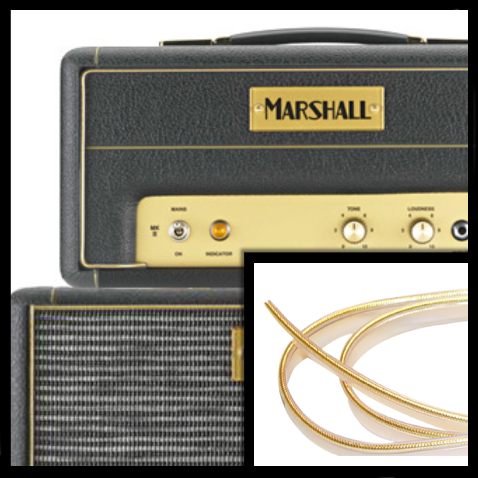 Genuine Marshall Gold Tinsel Piping - The Speaker Factory