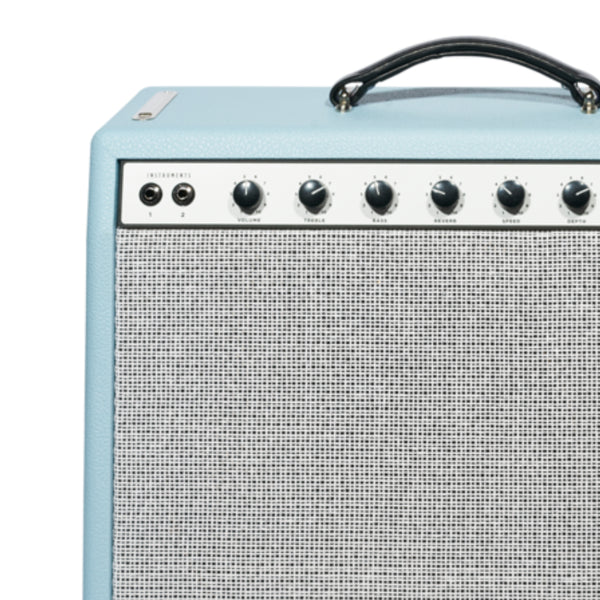 Baby Blue Bronco Tolex - The Speaker Factory