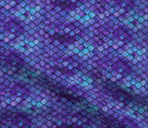 Dragon Scales Purple and Green