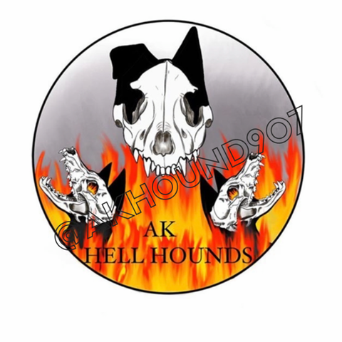 Ak Hell hounds sticker