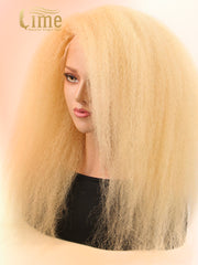 Virgin #613 13x6 Kinky Straight 150% Density Lace Front Wig