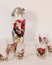 Load image into Gallery viewer, Barnyard Rooster Shaker and Shot Glass Set