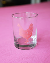 Load image into Gallery viewer, Coral Chicken Double Old Fashioned Glass