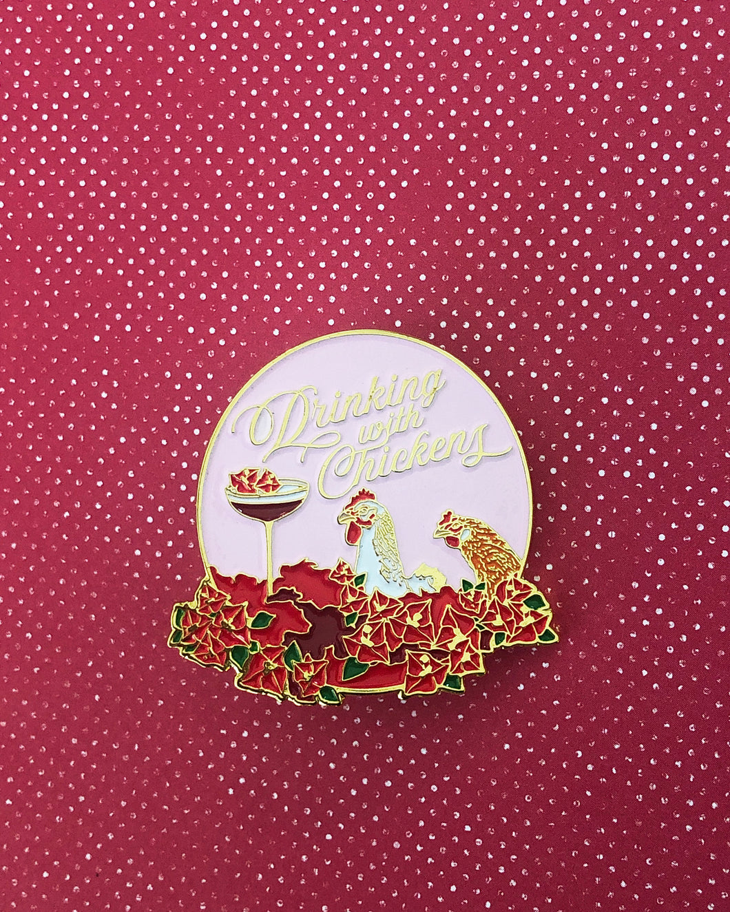 Drinking with Chickens Book Cover-Inspired Pin
