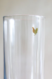 Golden Chicken Highball Glass