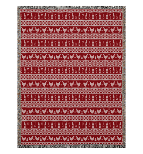 DWC Holiday Sweater Woven Blankets