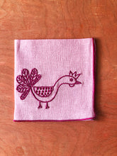Load image into Gallery viewer, Hen & Rooster Embroidered Cocktail Napkin Set