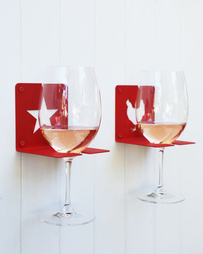 Wall-Mounted Wine Glass Holders