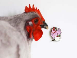 Lavender Orp Tropical Chicken Pin
