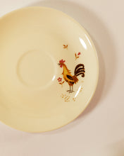 Load image into Gallery viewer, Hen & Rooster Teacups and Saucers, set of 5