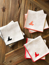 Load image into Gallery viewer, Tiny Chicken Embroidered Cocktail Napkin Set