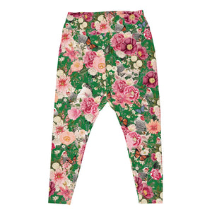 Secret Chicken Garden Plus Sized Leggings, Light Brahma