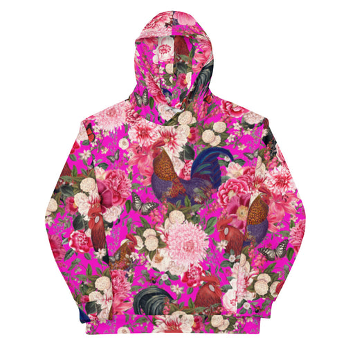 Secret Chicken Garden Unisex Hoodie, Roosters