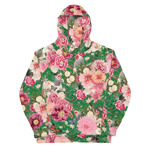 Secret Chicken Garden Unisex Hoodie, Light Brahma