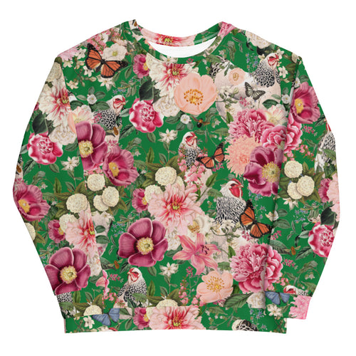 Secret Chicken Garden Crewneck Sweatshirt, Light Brahma