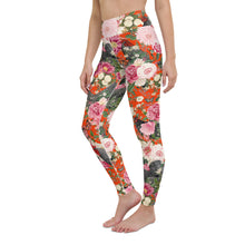 Load image into Gallery viewer, Secret Chicken Garden Yoga Leggings, Barred Rock