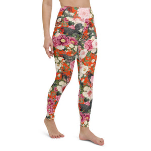 Secret Chicken Garden Yoga Leggings, Barred Rock