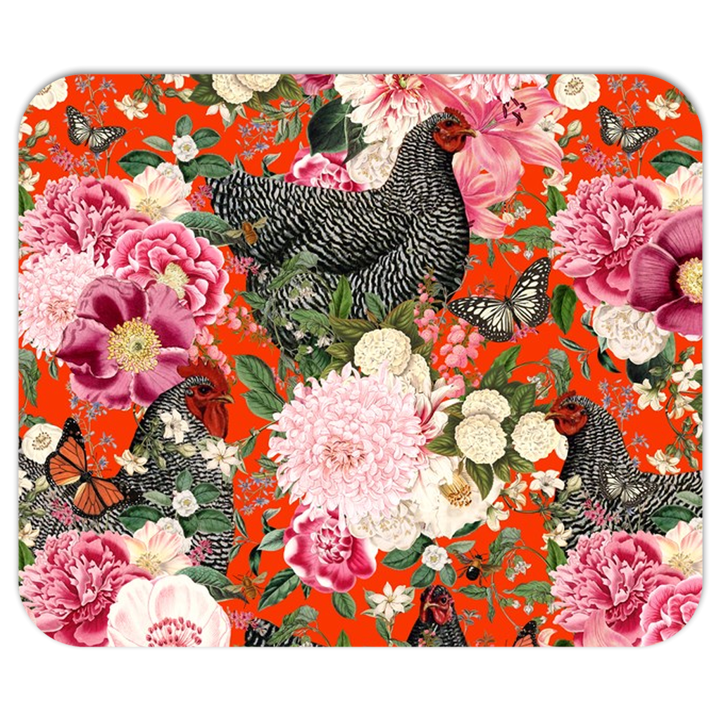 Secret Chicken Garden Mousepad, Barred Rock