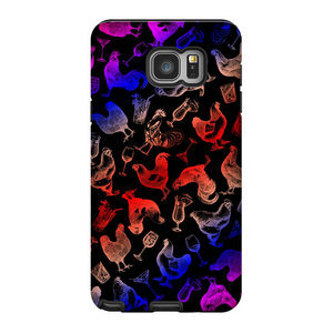 Chickens and Drinks Phone Case, multicolored
