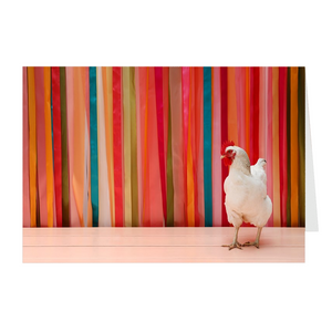 Chicken & Ribbons Folded Notecards