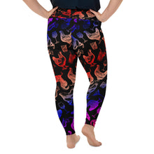 Load image into Gallery viewer, Cocktails & Chickens Plus Size Leggings