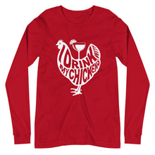 Load image into Gallery viewer, I Drink with My Chickens Unisex Long Sleeve Tee