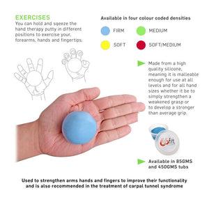 66fit Hand Therapy Exercise Putty - 85gms
