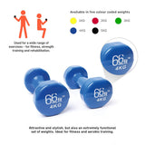 66fit Dumbbell Set x 1kg, 2kg, 3kg, 4kg & 5kg