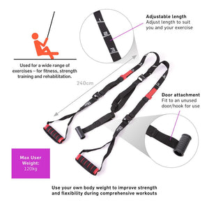 66fit Bodyweight Suspension Strength Training Strap