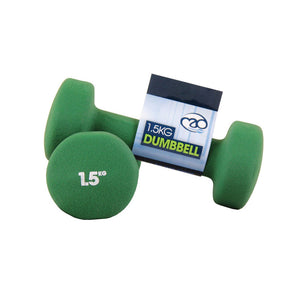 Fitness-Mad Neoprene Dumbbell Set x 0.5kg - 5kg