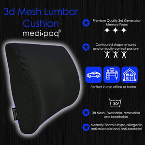 Medipaq®️ Memory Foam Back Support Cushion
