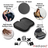Medipaq®️ Freedom Wedge Cushion - Premium Support For Coccyx Pain