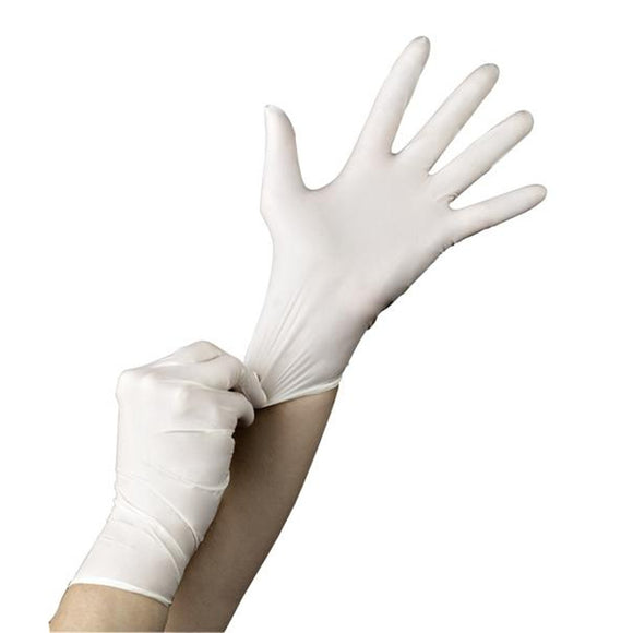 Nutouch 1.5 Medical Powder Free Disposable White Nitrile Gloves x 200