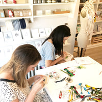 New! Botanical Drawing Contemporary Embroidery Workshop / Sharon