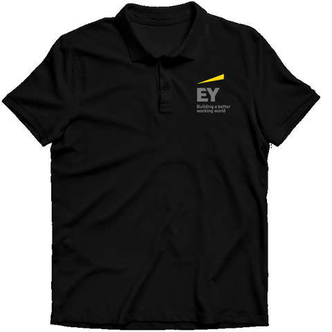 Ernst & Young  Polo T-shirt Black
