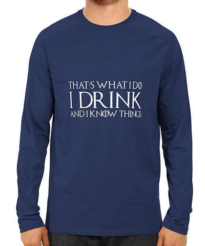 FS- I Drink and I Know Things Blue