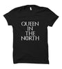 Image of GOT-52 Queen In The North-Half Sleeve Black