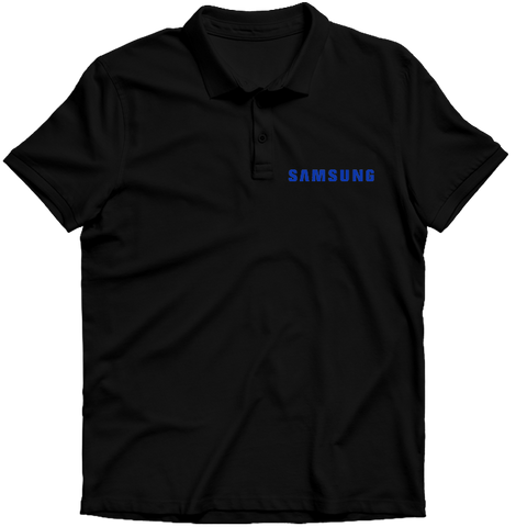 Samsung Logo Polo T-shirt- Black