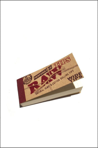 Filter - Raw Unbleached Perforated Wide Tips Booklet