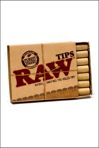 Filter - Raw Unbleached Pre-Rolled Tips Box