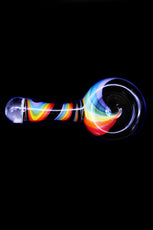 Cone Piece - Glass Bulb Rainbow Handle
