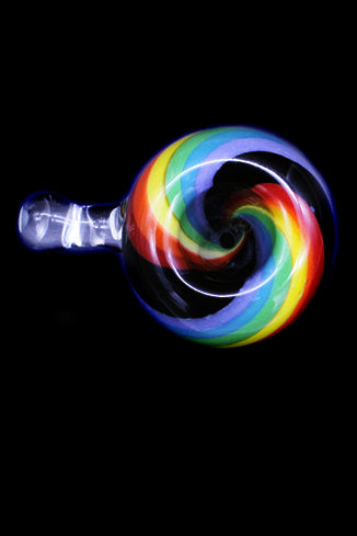 Cone Piece - Glass Bulb Rainbow Small Handle