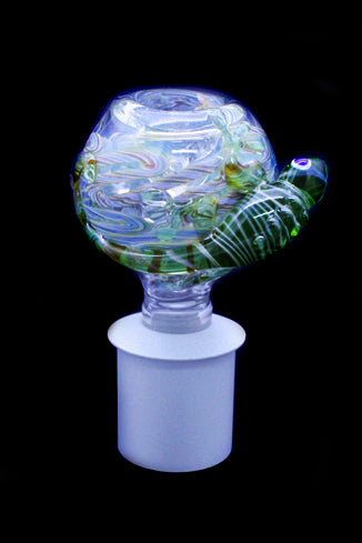 Cone Piece - Glass Bulb Iguana.