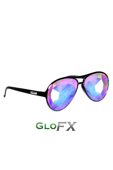 Glasses - GlowFX Kaleidoscope Aviator Black