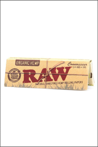 Papers - Raw Organic Connoisseur 1.25 Size w/Tips