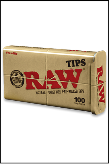 Filter - Raw Unbleached Pre-Rolled Tips Tin 100pcs
