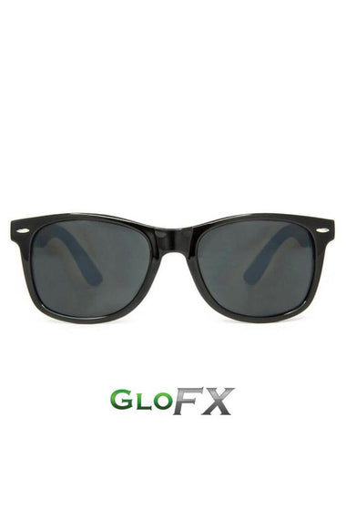 Glasses - GlowFX Ultimate Diffraction Black Tint