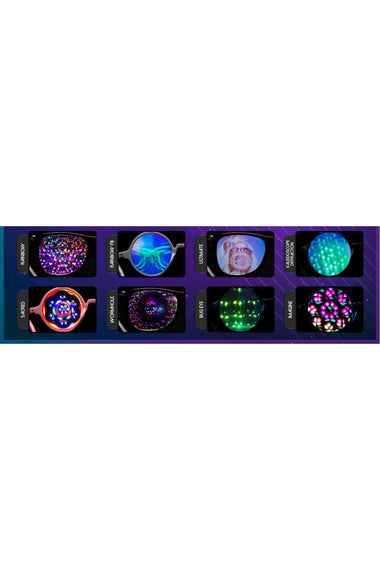 Glasses - GlowFX Kaleidoscope Wormhole Black