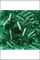 Capsules - Vegan Size Medium (0) Green Transparent 100pk