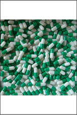 Capsules - Gelatine Size Medium (0) Green & White 100pk